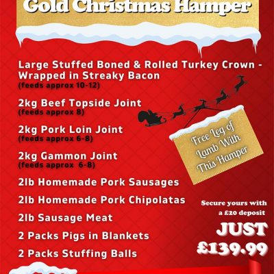 Gold Christmas Hamper - Jamies Meat Inn