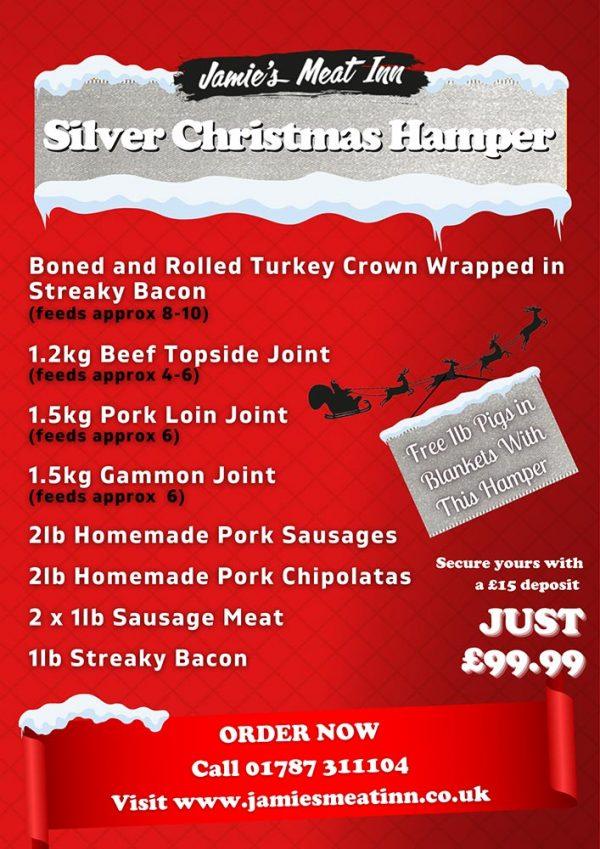 Silver Christmas Hamper - Jamies Meat Inn